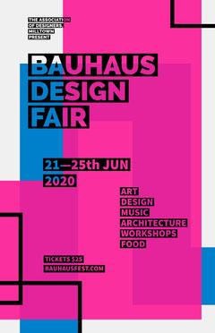 Bauhaus Poster Food Flyer