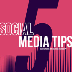 Pink and White Social Media Tips Instagram Graphic Social Media Flyer