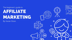 Blue and White Affilate Marketing Social Post Marketing