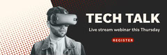 Grey Tech Talk VR Web Banner Stream