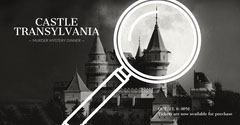 Black and White Castle Mystery Event Facebook Banner Event Banner