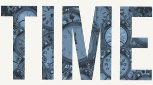 Blue and White Desktop Wallpaper with Clocks Desktop Wallpaper