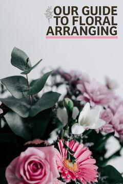 Natural Pink Flowers Floral Arranging Guide Pinterest Leaf