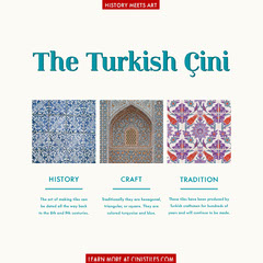 Turkish Cini Tiles Architecture Instagram Square Infographic History
