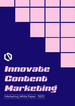 Blue & Pink Marketing White Paper A4 Marketing