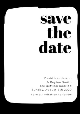 save <BR>the <BR>date Save the date-kort