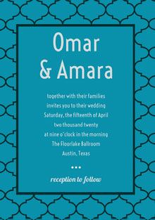 Omar & Amara Wedding Cards