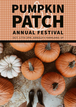 Orange and Black Pumpkin Festival Flyer Volantino