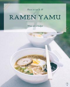 Asian Food Restaurant Guide Instagram Portrait Graphic with Ramen Ramen
