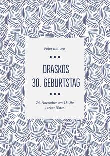 Draskos<BR>30. Geburtstag  Einladung