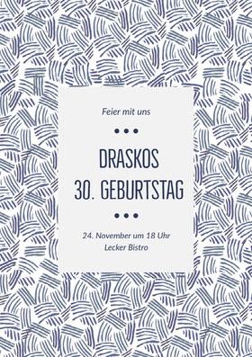 Draskos<BR>30. Geburtstag  Einladung zum Geburtstag