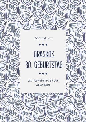 Draskos<BR>30. Geburtstag  Einladung zur Party