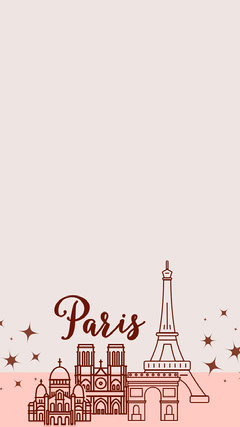 Beige and Claret Paris Social Post Vacation