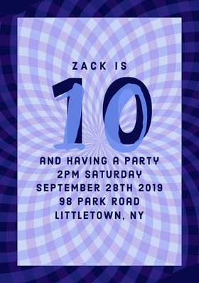 Blue Boys Birthday Party Invitation Birthday Invitation (Boy)