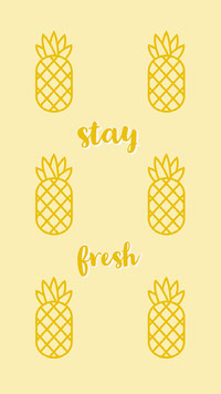 Yellow Pineapple Mobile Phone Wallpaper 배경화면