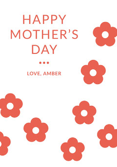 Red Floral Mothers Day Card Seasonal