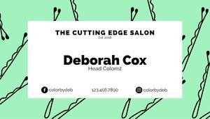 Mint Hair Salon Business Card Business Card
