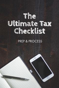 Dark Desk Tax Checklist Pinterest Post Tax Flyer