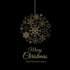 Christmas Gold Bauble igsquare Christmas