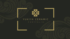 Gold and Gray Yukiya Ceramic Portfolio Cover Widescreen Gold