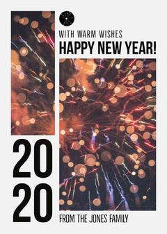 2020 New Year's Card Fireworks  Fireworks