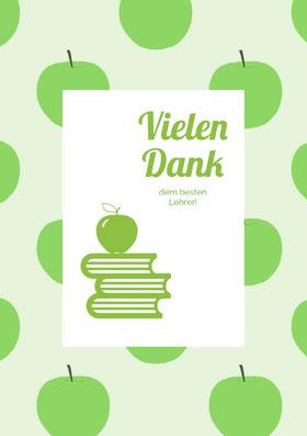 teacher thank you cards Danksagungskarte