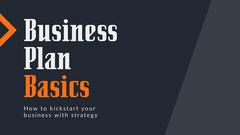 Orange Grey Business Plan Basics Presentation Cover Widescreen  Grey