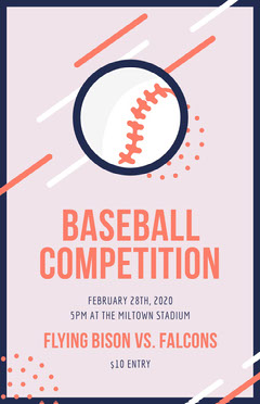 baseball competition poster Sports