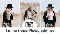 Fashion Blog Photography YouTube Thumbnail with Woman in Field Fashion Show