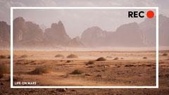 Mars Landscape Recording Zoom Background Mountains