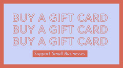 Support Small Business Twitter Post Graphic Gift Card
