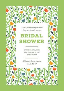 BRIDAL <BR>SHOWER  Invitación de boda