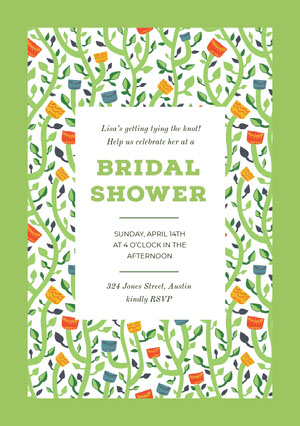 BRIDAL <BR>SHOWER  Bridal Shower Invitation
