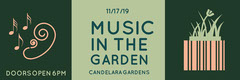 Green Illustrated Garden Concert Ticket Garden