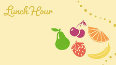 Yellow Illustrated Lunch Time Zoom Background  Fruit