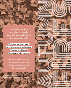 Brown Autumn Poem Instagram Portrait Social Post Graphic Fall