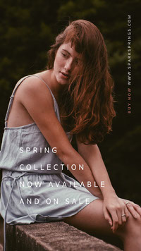 Cold Toned Spring Collection Ad Instagram Story Photo de produit Amazon