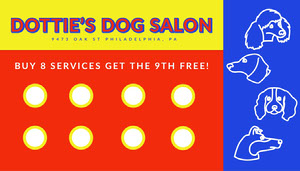 primary color playful loyalty card Custom Loyalty Card