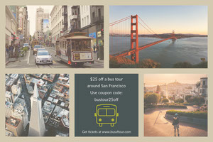 Grey With View Collage Travel Agency Flyer Coupon