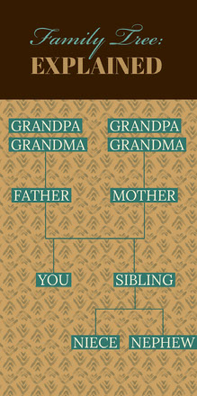 Turquoise and Brown Family Tree Infographic Infografica