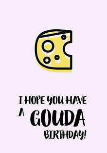 GOUDA Birthday Card