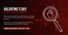 VALENTINE'S DAY<BR>HEART HEALTH SCREENING Health Posters