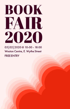Red Shape Book Fair Flyer Fairs