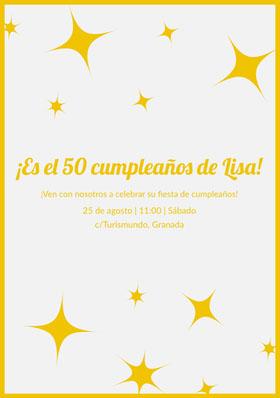 ¡Es el 50 cumpleaños de Lisa!  Invitación de cumpleaños