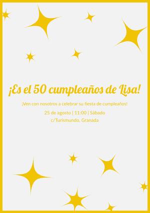 ¡Es el 50 cumpleaños de Lisa!  invitación