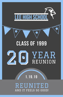 Blue and Black Year Reunion Party Poster School Posters