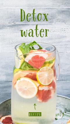 detox water recipe Instagram story Water