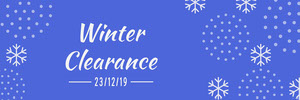Blue and White Snowflake Winter Sale Horizontal Ad Banner Ads Banner