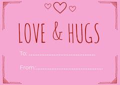 Pink Hand Drawn Valentine's Day Card Valentine's Day
