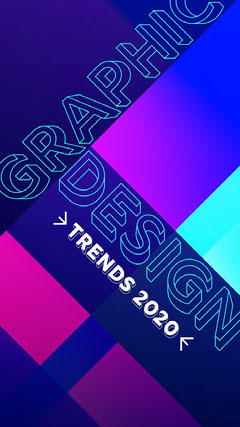 graphic design trend instagram story Neon